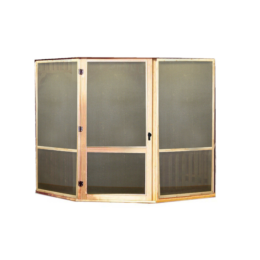 Shop heartland brown cedar screen kit with door for ft