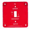 Mulberry 1-Gang Red Standard Toggle Metal Wall Plate
