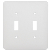 Mulberry 2-Gang White Standard Toggle Metal Wall Plate