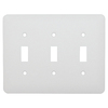 Mulberry 3-Gang White Standard Toggle Metal Wall Plate