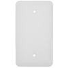 Mulberry 1-Gang White Blank Metal Wall Plate