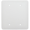 Mulberry 2-Gang White Blank Metal Wall Plate