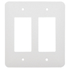 Mulberry 2-Gang White GFCI Metal Wall Plate