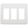 Mulberry 3-Gang White GFCI Metal Wall Plate