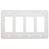 Mulberry 4-Gang White GFCI Metal Wall Plate