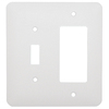 Mulberry 2-Gang White Combination Metal Wall Plate