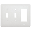 Mulberry 3-Gang White Combination Steel Wall Plate