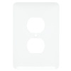 Mulberry 1-Gang White Standard Duplex Receptacle Metal Wall Plate