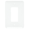 Mulberry 1-Gang White Wall Plate