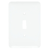 Mulberry 1-Gang White Standard Toggle Metal Wall Plate