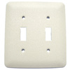 Mulberry 2-Gang Ivory Standard Toggle Metal Wall Plate