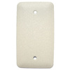 Mulberry 1-Gang Ivory Blank Metal Wall Plate