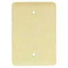 Mulberry 1-Gang Ivory Blank Steel Wall Plate