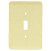 Mulberry 1-Gang Ivory Standard Toggle Metal Wall Plate