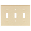 Mulberry 15-Pack 3-Gang Wrinkle Ivory Standard Toggle Metal Wall Plates