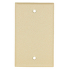 Mulberry 1-Gang Wrinkle Ivory Blank Metal Wall Plate