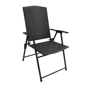 Garden Treasures Brown Steel Folding Conversation Chair