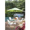 Garden Treasures White Steel Folding Conversation Chair