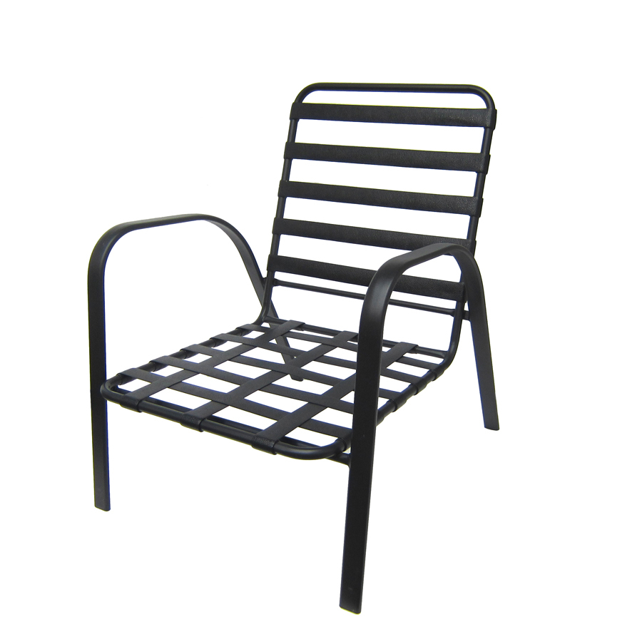 Shop Garden Treasures Lake Notterly Black Steel Strap Seat