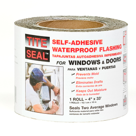 TITE-SEAL Self-Adhesive Waterproof 4-in x 33-ft Rubberized Asphalt Roll Flashing