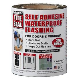 TITE-SEAL Self-Adhesive Waterproof 6-in x 33-ft Rubberized Asphalt Roll Flashing