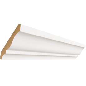 EverTrue 19/32-in x 3-5/8-in x 8-ft Primed MDF Crown Moulding (Pattern L 49)