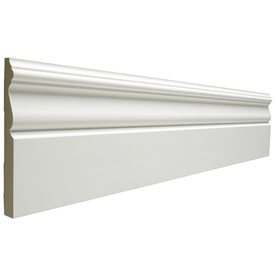 EverTrue 19/32-in x 5-1/4-in x 12-ft Primed MDF Base Moulding (Pattern B 312)