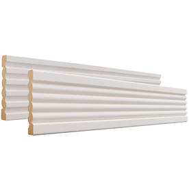 EverTrue 19/32-in x 3-3/8-in x 8-ft Primed MDF Casing Moulding (Pattern 338)