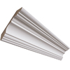 EverTrue 11/16-in x 4-1/4-in x 8-ft Primed MDF Crown Moulding (Pattern 326)