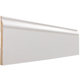 EverTrue 9/16-in x 5-1/4-in x 12-ft Primed Pine Base Moulding (Pattern L 163E)
