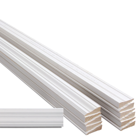 EverTrue 12-Piece 11/16-in x 2-1/4-in x 7-ft Primed Pine Casing Moulding Contractor Pack (Pattern 366)