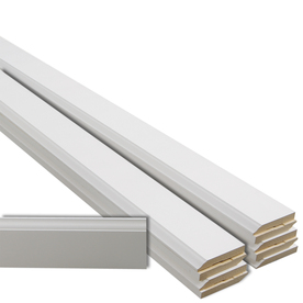 EverTrue 10-Piece 1/2-in x 3-1/4-in x 12-ft Primed MDF Base Moulding Contractor Pack (Pattern 623)