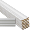 EverTrue 8-Piece 9/16-in x 3-5/8-in x 12-ft Primed Pine Crown Moulding Contractor Pack (Pattern L 49)