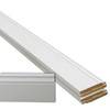 5-Piece 19/32-in x 5-1/4-in x 12-ft Primed MDF Base Moulding Contractor Pack (Pattern L163E)