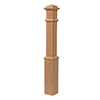 5.5-in x 56-in Raw Unfinished Red Oak Wood Stair Newel Post