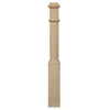 Creative Stair Parts 6.25-in x 55-in Raw Unfinished Poplar Wood Stair Newel Post