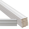 Flip Face 8-Piece 9/16-in x 3-5/8-in x 12-ft Primed Pine Crown Moulding Contractor Pack (Pattern F 49)