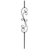 Creative Stair Parts 44-in Creative Powder-Coated Wrought Iron Scroll Baluster