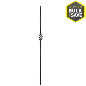 EverTrue 44-in Matte Wrought Iron Classic Stair Baluster
