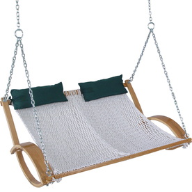 Pawleys Island 2-Seat Wood Traditional Double Rope Swing