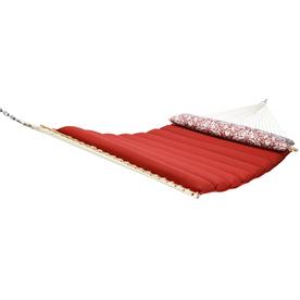 "Garden Treasures 82""L Red Pillowtop Double Hammock"