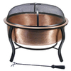 Garden Treasures 28.5-in W Polished Copper Wood-Burning Fire Pit