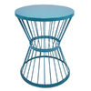 Garden Treasures 20-in Blue Powder-Coated Outdoor Round Steel Plant Stand
