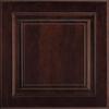 Shenandoah Grove 14.5-in x 14.5625-in Java Cherry Square Cabinet Sample