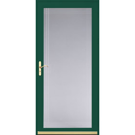 Shop pella royalton hartford green full view beveled for Full glass screen door