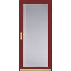 Shop pella royalton cranberry full view beveled safety for Full glass screen door