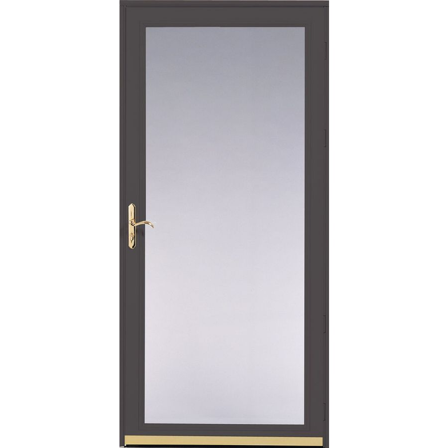 Storm Doors Lowe S On Sale : Shop pella ashford brown full view safety glass