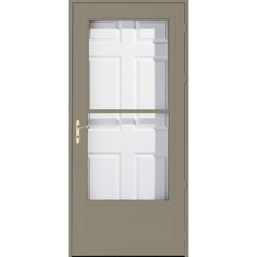 Shop pella helena putty mid view safety retractable screen for Pella retractable screen door