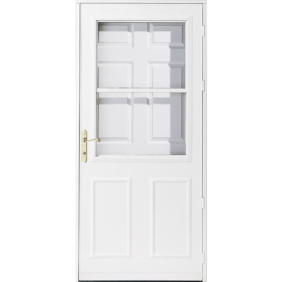 Shop pella 36 white olympia rolscreen storm door at for 30 inch storm door
