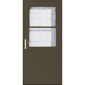 Shop pella olympia brown high view safety retractable for Retractable screen door replacement